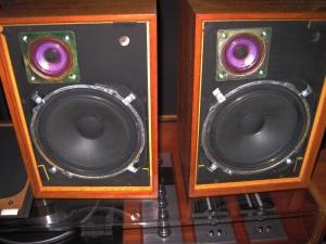 七十年代古董乐富豪小书架音箱 成都二手音响器材HIFI音响
