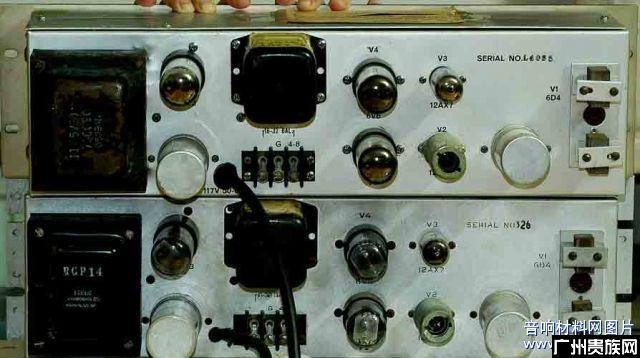 美国古董带前级推挽分体胆功放机(西电代工公司)一对