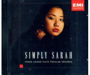 Simply Sarah 莎拉张 流行古典安可集 美国版 5616128