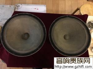 一对JENSEN古董钢磁15寸低音王PMM-15