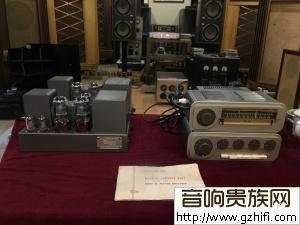 (#2)一套英国经典旧版国都QUAD 2 古董胆前级+后级+收音