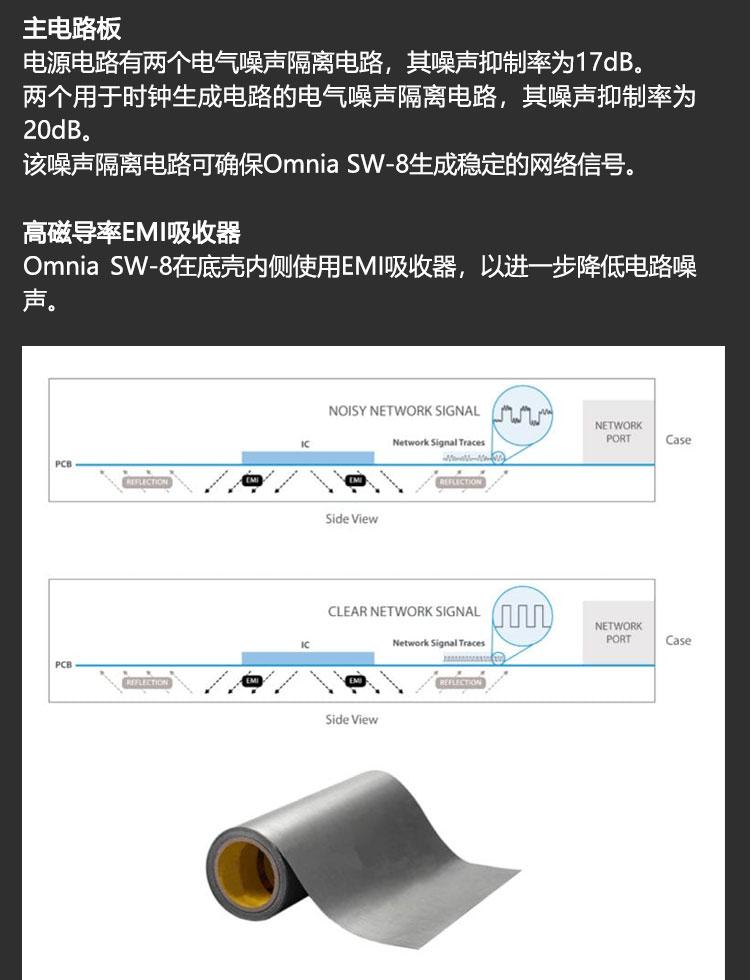 美国摩力达多少钱_美国 NuPrime/新派 Omnia SW-8 千兆网络交换机8口音频级专用网络_DAC ...